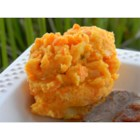 Parsnip and Carrot Puree - Tender parsnips and carrots are pureed with butter and chives for a splendid accompaniment to roasted meats.