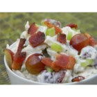 Chicken Salad With Bacon and Red Grapes - Diced chicken, bacon, and red grapes combine with a zesty ginger-lime dressing for an appealing salad that's great for a light lunch or a busy day.