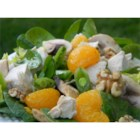 Turkey and Citrus Salad - A simple, fresh spinach salad combines left over roast turkey meat with mandarin orange segments and a fruity vinaigrette.