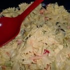 Chicago Macaroni Salad  - A bright and colorful pasta salad made with salad macaroni (small, tube-shaped pasta), with lots of broccoli, Cheddar cheese, and olives, is perfect for a potluck, picnic, or light supper. It was handed down from a grandma, so you know it's good.
