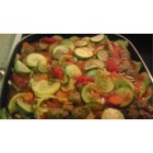 Aunt Rita's Italian Stew - Mild Italian sausage simmers with summertime vegetables like zucchini and summer squash to make an easy skillet supper with Italian-inspired flavors.