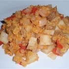 Colombian Lentils - This is a basic recipe for lentils with tomato, onion, and potatoes.