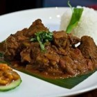 Bhuna Gosht - Pan-frying a variety of spices with the lamb chops gives this curry dish a deep flavor.