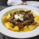 Chef John's Classic Beef Stroganoff - This is a fairly lean version of beef stroganoff, as most recipes call for more cream. This is something you can easily adjust to your tastes. I like a little thicker version, with just enough sauce to coat the meat and noodles.