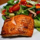 Melt-in-Your-Mouth Broiled Salmon - Fresh salmon, broiled in a sharp, snappy herb butter sauce, truly melts in your mouth.