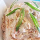 Smoked Salmon Spread - Smoked salmon joins green onions, sour cream, and cream cheese in this tasty spread.