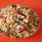 Day Before Pay Day Fried Rice - This recipes is quick to fix using leftovers from previous days of cooking. My son and husband 'fought' each other for the last of this dish the first time I made it. It tastes that good.