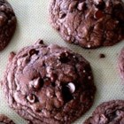 Chocolate Fudge Cookies - Chewy chocolate chip cookies made from chocolate cake mix.