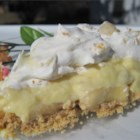 Banana Cream Pie III - Simple, creamy and delicious, this recipe calls for bananas, instant vanilla pudding mix, whipped topping, milk, and a baked pie shell. The whipped topping is stirred into the prepared pudding and the mixture is poured over sliced bananas. Then it 's served chilled with some more whipped topping.