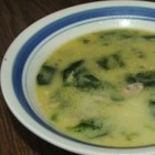 Creamy Spinach Soup - This is a very delicious cream of spinach soup that can be served with a few croutons on top.