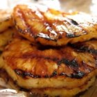 Grilled Pineapple Slices - Grilled cinnamon sweet pineapple rings!  You can't eat just one ring!
