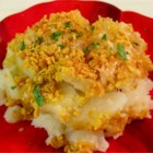 Crunch Top Potatoes - A very quick, easy, and delicious potato side dish with a crunchy cheese and cornflake topping!