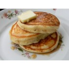 Old-Fashioned Pancakes - Anybody can add water to a boxed pancake mix, but you're better than that! These pancakes are not too thick, not too thin, but tender, light, buttery, and delicious.