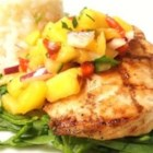 Grilled Pineapple Mango Salsa - This salsa is easy to make and tastes as fresh as summer with the inclusion of mango, pineapple, red bell pepper, jalapeno pepper, and lime.