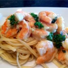 Shrimp Scampi Bake - This rendition of a classic dish of shrimp baked in butter, garlic, lemon juice and parsley, is even better with the help of Dijon-style mustard.