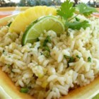 Pineapple-Lime Rice - Crushed pineapple and lime zest make this side dish something special.