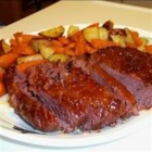 Glazed Corned Beef - This apricot sweet sauce really brings out the flavor in corned beef. It is great to serve the sauce over cooked carrots also!
