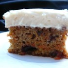 Cranberry Carrot Cake - Moist and delicious. The cranberries are a nice change from the raisins most people use.