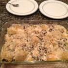 Kevin's Sea Shells - Shrimp and Swiss cheese are stuffed into jumbo pasta shells,  baked in a creamy sauce with mushrooms, and topped with Parmesan cheese for a rich-tasting, impressive main dish.