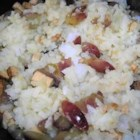 Grapes and Rice Stir Fry - This is a simple rice stir fry that is easily made vegetarian.