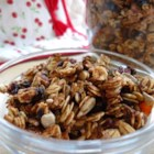 Crunchy and Delicious Granola - Applesauce is used in this recipe instead of sugar for sweetening granola with dried cherries, pumpkin and sunflower seeds and wheat germ.