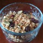 Nutty Granola - Dried fruit and honey give the sweet to this granola with almonds, oats, coconut, and pumpkin and sunflower seeds.