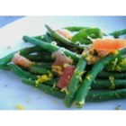 Honey Orange Green Beans - Green beans are seasoned with honey, orange zest, garlic, soy sauce, and balsamic vinegar in this side dish recipe.