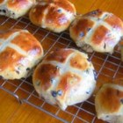 Easter Buttermilk Hot Cross Buns - Hot cross buns are made with buttermilk and raisins with a hint of cinnamon. These are a family tradition for Easter brunch.