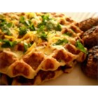 Potato Waffles - These savory potato waffles are similar to potato pancakes, but in waffle form. The batter consists of onion, garlic, and mashed potatoes cooked until golden brown in your waffle iron. Serve with fish or chicken and sauteed apples.