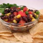 Black Bean Salsa - This thick, flavorful salsa will please everyone with it's exciting array of flavors and textures.
