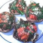 Spinach Stuffed Portobello Mushrooms with Avocado