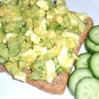 Delicious Avocado Egg Salad - Creamy avocado replaces the mayonnaise in this quick and easy egg salad.
