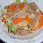 Cabbage and Noodles with Apple and Carrot