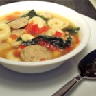 Chicken Sausage and Tortellini Soup