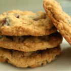 Oatmeal Craisin Cookies - Oatmeal cookies with raisins and craisins.