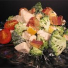 Chicken Broccoli Salad - This broccoli salad is a great way to use up leftover grilled chicken. The tangy mayonnaise dressing is easy to whip up, too.
