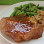 Marinated Baked Pork Chops - Pork chops cook in a tangy marinade of soy sauce, Worcestershire, and ketchup-15-minute prep!