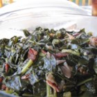 Kickin' Collard Greens - If you like greens you will love this recipe.  The bacon and onions give them a wonderful flavor.  Add more red pepper for a little more spice.