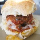 Mini Meatball Subs - Tiny meatball subs with red sauce and mozzarella cheese are perfect for entertaining.