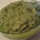 Spicy Cilantro Pesto - This pesto features cilantro, almonds, garlic, lemon juice, and red pepper flakes.