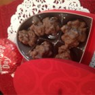 Chocolate Pralines, Mexican Style - This recipe makes the creamy chocolate and pecan pralines you find at the checkout stand in Mexican restaurants. The secret ingredient to their wonderful texture is a few melted marshmallows and plenty of pecans.