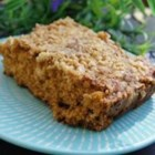 Toffee Bar Cake - A quick crumb cake with toffee bits, chopped nuts and streusel topping...enjoy!
