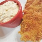 Hearty Tartar Sauce - Great tasting homemade tartar sauce for seafoods. It's packed with pickles green onions, olives and garlic. Definitely a winner.