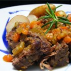 Simple Beef Pot Roast - This pot roast recipe and technique could not be easier. The vegetables break down, combining with the meat's juices to create a sauce! Warm, hearty, and delicious! Serve over horseradish mashed potatoes.