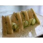 English Tea Cucumber Sandwiches - Cream cheese seasoned with  garlic powder, onion salt, Worcestershire sauce, and a bit of mayonnaise makes a delicious spread for cucumber sandwiches.