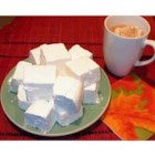Homemade Marshmallows II - Vegan marshmallows made by cooking sugar and corn syrup and whipping it into shape.