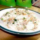Romaine Rice Tuna Salad - This is a yummy salad my roommate from Croatia made all of the time. It's perfect for lunch. You just want to keep eating and eating! Make right before serving, doesn't refrigerate well.
