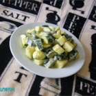 Cream Cheesy Cubed Zucchini with Lemon and Oregano - Try this recipe as a tasty spring/summer side dish, or as an impressive base for grilled chicken, fish, or shrimp.