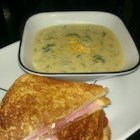 Broccoli Cheese Soup VII - A thick rich broccoli soup with a really really cheesy flavor. This can be made in half an hour.
