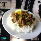 Spicy Orange Zest Beef - Enjoy this quick and easy spicy orange beef dish over rice.